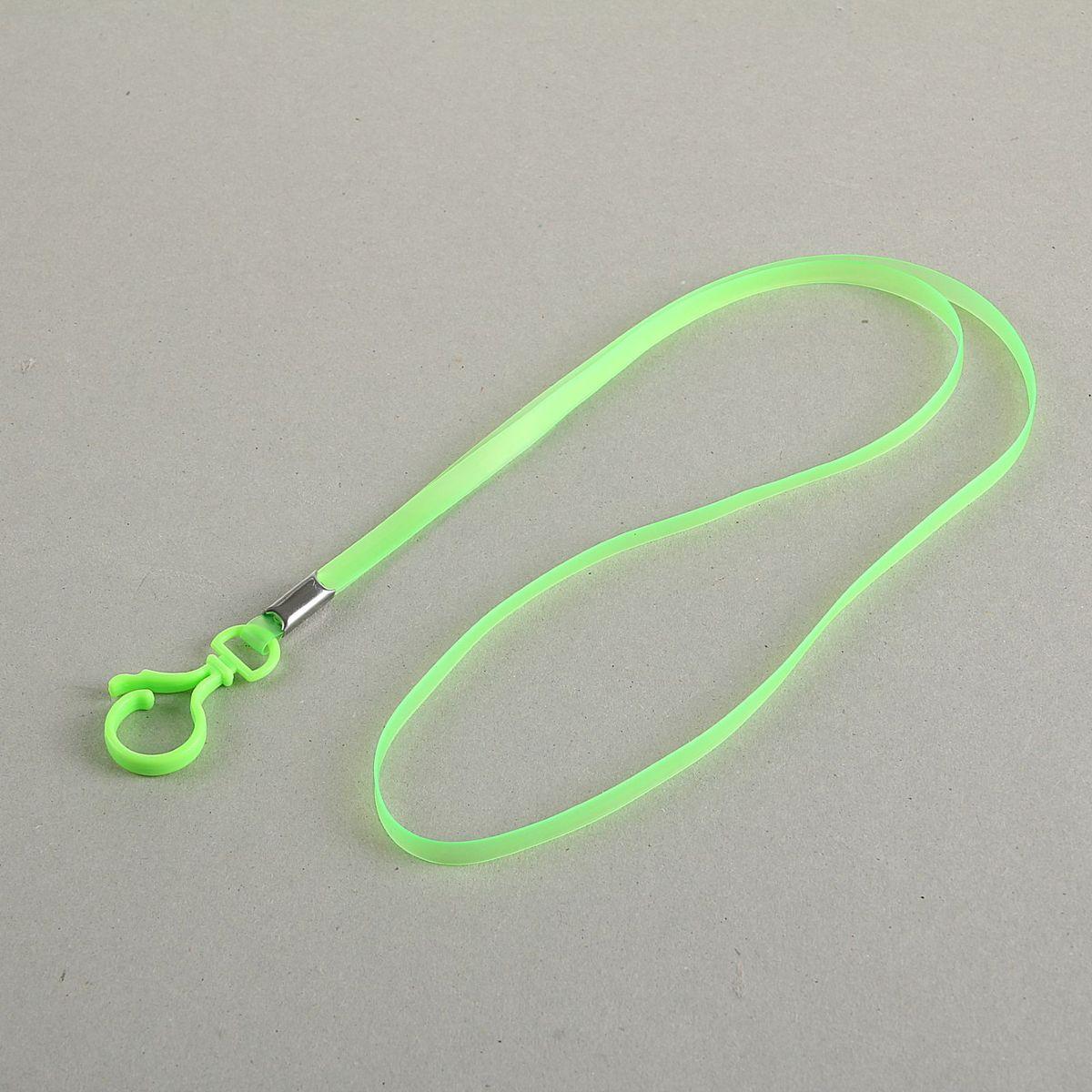 Лента для бейджа длина 38 см ширина 5 мм цвет зеленый1965014