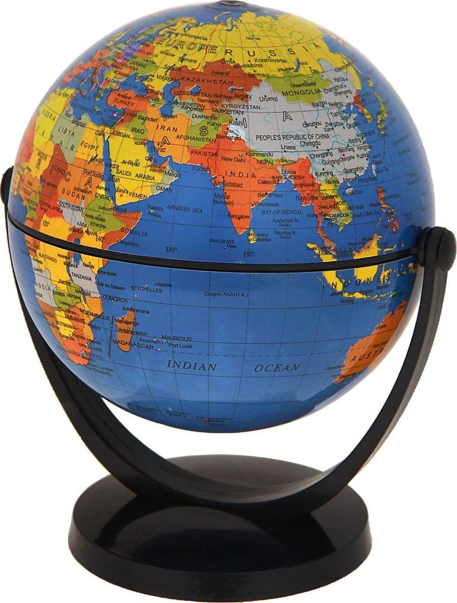 Глобус Политическая карта на английском языке диаметр 10,6 смFS-00897Данная модель дает представление о политическом устройстве мира. Макет показывает расположение государств, столиц и крупных населенных пунктов. Названия всех объектов приведены на английском языке. Страны окрашены в разные цвета, чтобы вам было удобнее ориентироваться. На глобусе отображены: экватор параллели меридианы градусы государственные границы демаркационные линии железнодорожные и морские пути сообщения. Характеристики Высота глобуса с подставкой: 13 см. Диаметр: 10.6 см. Изделие изготовлено из прочного пластика.