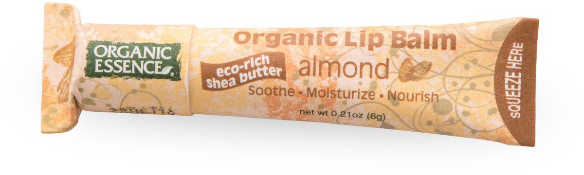 Organic Essence Органический бальзам для губ, Миндаль 6 гFS-00610USDA Organic сертифицированный продукт. Насыщен органическим маслом Ши (масло плодов дерева Каритэ). Не содержат воду или любые наполнители. Питает сухие, потрескавшиеся губы, делает их мягкими. Отличная база перед нанесением губной помады.