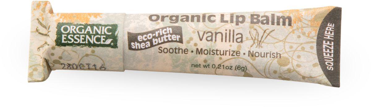 Organic Essence Органический бальзам для губ, Ваниль 6 гFS-00897USDA Organic сертифицированный продукт. Насыщен органическим маслом Ши (масло плодов дерева Каритэ). Не содержат воду или любые наполнители. Питает сухие, потрескавшиеся губы, делает их мягкими. Отличная база перед нанесением губной помады.