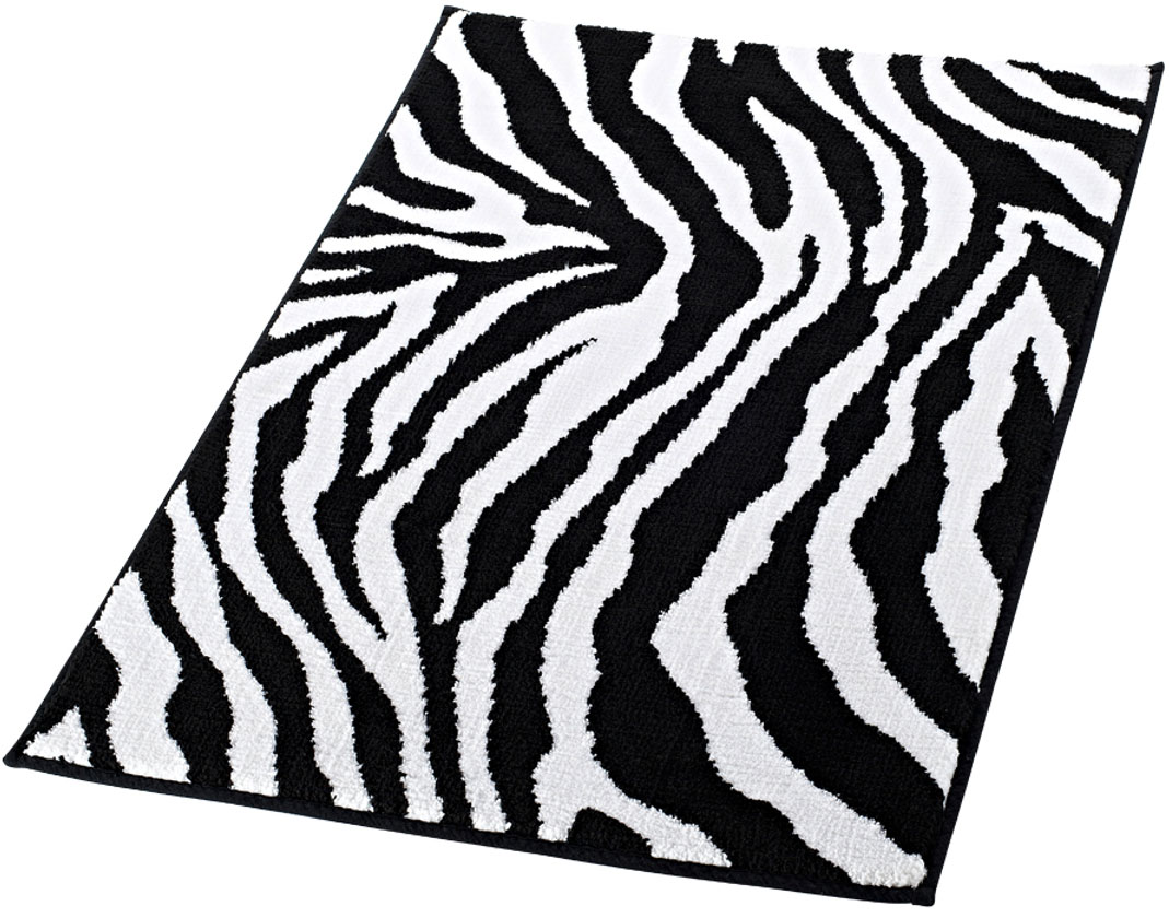 Коврик для ванной комнаты Ridder Zebra, 50 х 55 смRG-D31SВысококачественный коврик Ridder Zebra - подарок для ваших ножек. Состав: 100% микроволокно из акрила. Подложка: латекс. Стирать при щадящем режиме 30°С. Можно сушить в сушильной машине. Не подвергать химической чистке. Не гладить.