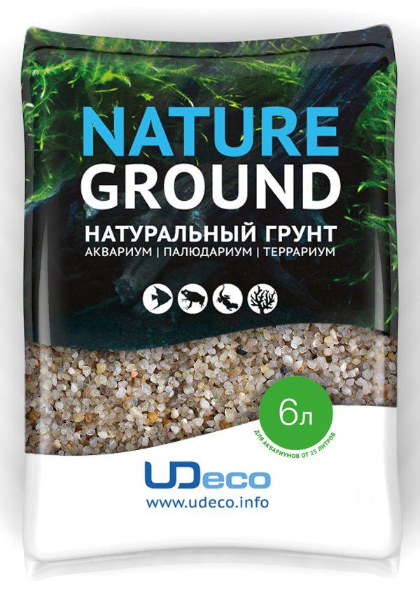 Натуральный грунт для аквариумов UDeco River. Светлый гравий, 2,5-5 мм, 6 л0120710UDeco River Light - Натуральный грунт для аквариумов Светлый гравий, 2,5-5 мм, 6 л