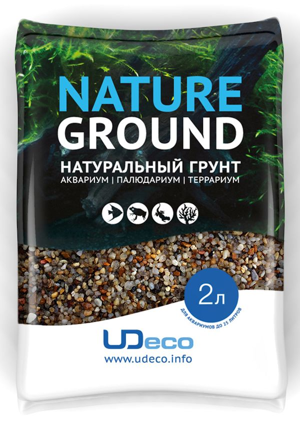 Грунт для аквариума UDeco Янтарный гравий, натуральный, 2-5 мм, 2 л0120710Натуральный грунт UDeco Янтарный гравий предназначен специально для оформления аквариумов, палюдариумов и террариумов. Изделие готово к применению.Грунт UDeco порадует начинающих любителей природы и самых придирчивых дизайнеров, стремящихся к созданию нового, оригинального. Такая декорация придутся по вкусу и обитателям аквариумов и террариумов, которые ещё больше приблизятся к природной среде обитания.Необходимое количество грунта рассчитывается по формуле:длина аквариума х ширина аквариума х толщина слоя грунта. Предназначен для аквариумов от 25 литров. Фракция: 2-5 мм.Объем: 2 л.