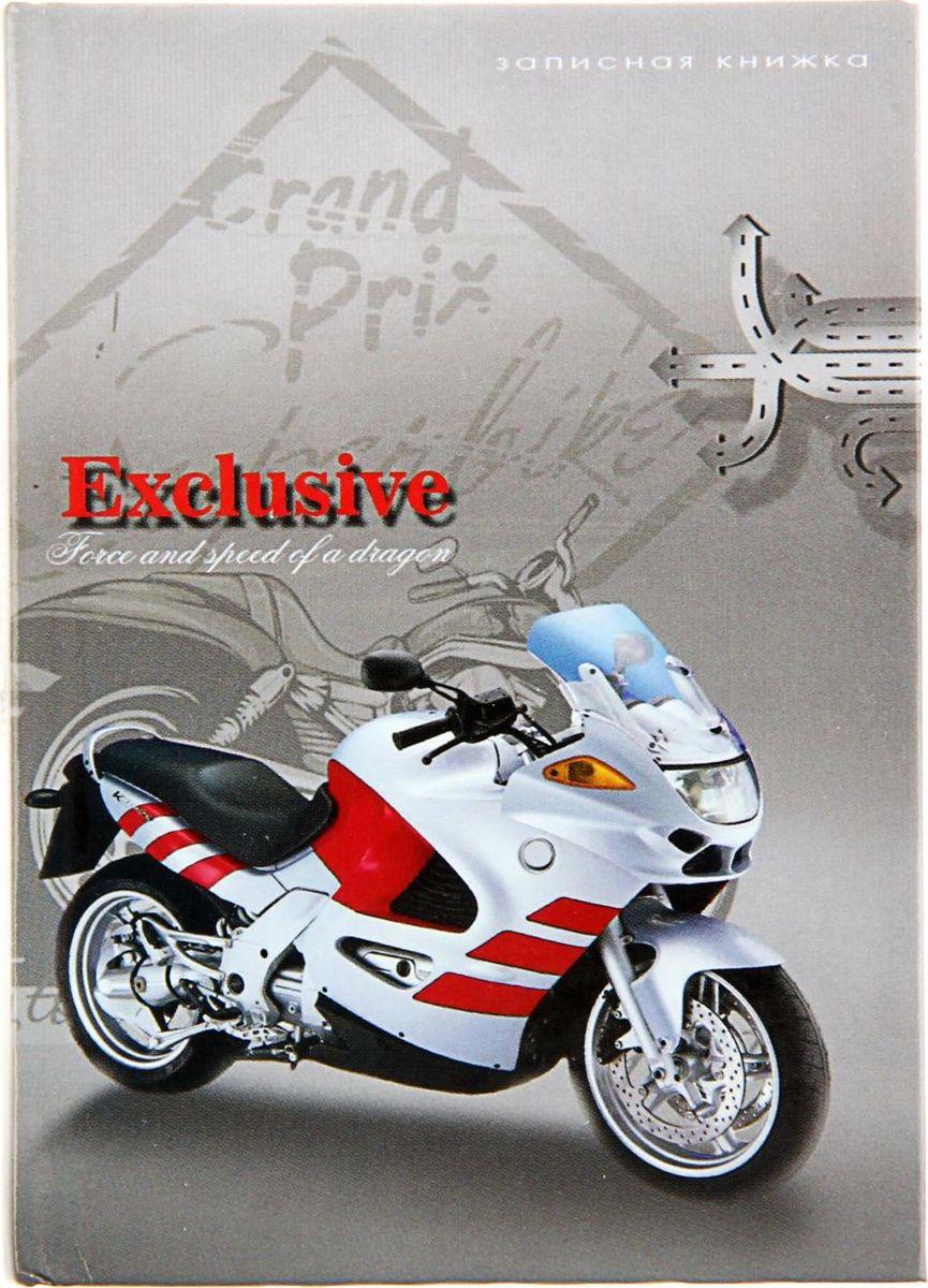 Profit Записная книжка Мотоцикл на сером 48 листов