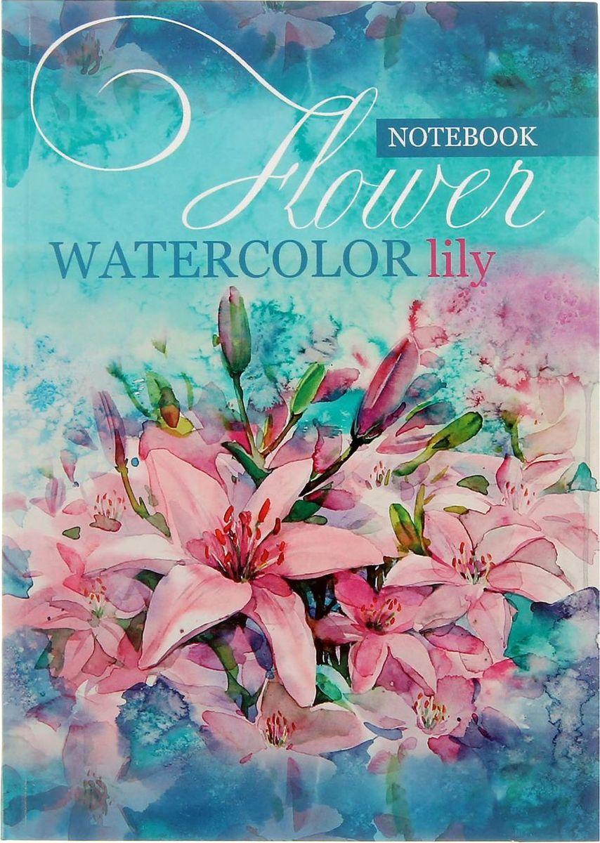Проф-Пресс Записная книжка Цветущие лилии 64 листа1776326