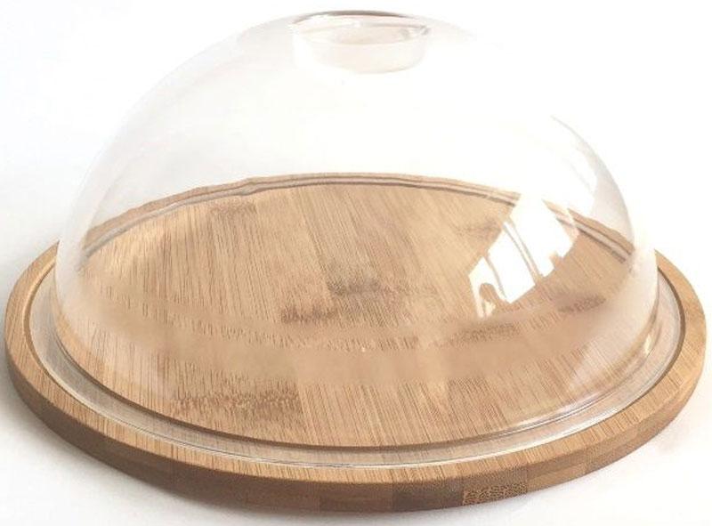 Тортница Dommix, диаметр 23,5 смFA-5125-1 BlueС тортницей Dommix, выполненной из бамбука, вы всегда сможете красиво и эстетично расположить торт или пирог на праздничном столе. Крышка сидит на подносе достаточно плотно и изготовлена из пластика, что позволяет сохранить первоначальную свежесть торта и защитить его от посторонних запахов.