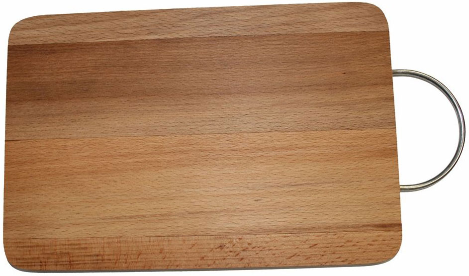 Доска разделочная Dommix, прямоугольная, с ручкой, 20 х 30 х 1,8 см94672Прямоугольная разделочная доска с металлической ручкой изготовлена из бука в России. Прекрасно подходит для приготовления и сервировки пищи. Упаковано в полиэтиленовую пленку.