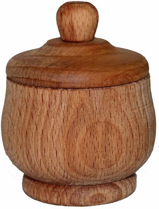 Солонка, малая. MO68VT-1520(SR)Солонка малая с крышкой станет незаменимой вещью для хранения соли, изготовлена из бука. Солонка оригинальной формы впишется в любой интерьер кухни.