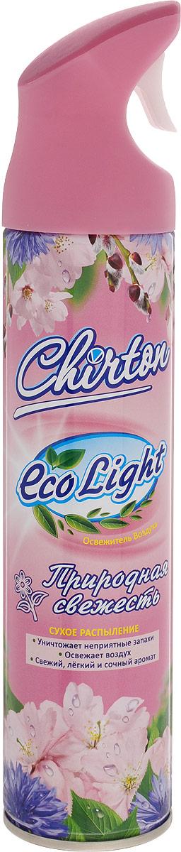 Освежитель воздуха Chirton ЭКО Лайт. Природная свежесть, 280 мл09840-20.000.00Освежитель воздуха Chirton ECO Light. Природная свежесть, содержащий высококачественные натуральные ароматизаторы, не просто маскирует неприятные запахи, а быстро, легко и эффективно их уничтожает. Он имеет свежий, легкий и сочный аромат, который надолго наполнит ваш дом отличным настроение. Уникальный триггер обеспечивает очень удобное использование освежителя и его мягкое сухое микрораспыление без капель и брызг. Товар сертифицирован.Уважаемые клиенты!Обращаем ваше внимание на возможные изменения в дизайне упаковки. Качественные характеристики товара остаются неизменными. Поставка осуществляется в зависимости от наличия на складе.
