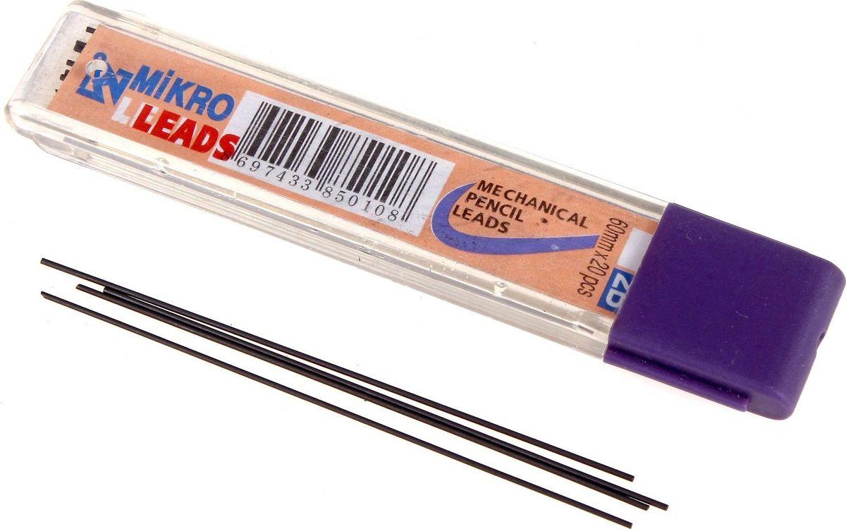 MIKRO Грифель для механического карандаша 0,5 мм 20 шт72523WDГрифель MIKRO подойдет для механических карандашей 2В.Мягкость и равномерность при письме в карандашах обеспечивается за счет применения мелкодисперсных частиц графита.Грифели повышенной прочности и эластичности, упакованные в компактный бокс, не займут много места и отлично впишутся в ваше рабочее пространство.