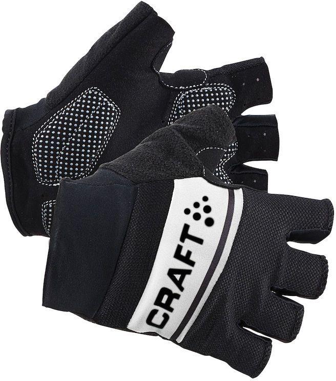 Велоперчатки Craft Classic, цвет: черный, белый. 1903304. Размер L (10)Z90 blackЛегкие перчатки с гелевыми вставками на точках давления и удобной посадкой