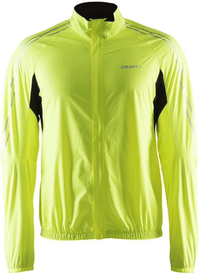 Куртка мужская для велоспорта Craft Velo Bike Wind, цвет: салатовый, черный. 1903996. Размер XLAIRWHEEL Q3-340WH-BLACKВетрозащитная и влагостойкая ткань