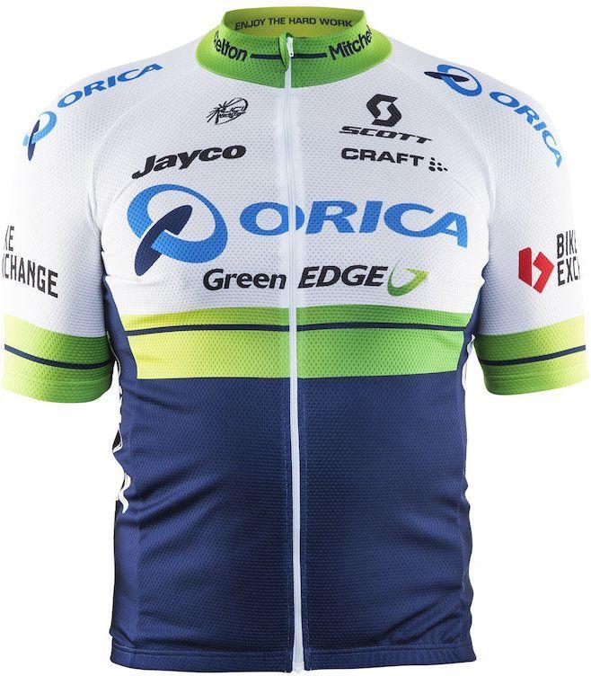 Футболка мужская для велоспорта Craft Orica Bike, цвет: белый, синий. 1904465. Размер XXL3B327Функциональная охлаждающая ткань. Отличная транспортировка влаги. Эргономичный велокрой. Сплошная молния.