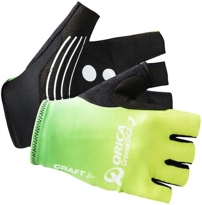 Велоперчатки Craft Orica, цвет: черный, желтый. 1904469. Размер L (10)ГризлиВело-перчатки Craft Orica предназначены для любителей и профессионалов велогонок. Перчатки идеально облегают руку, обеспечивают оптимальное сцепление с рулем, очень стойкие к износу.