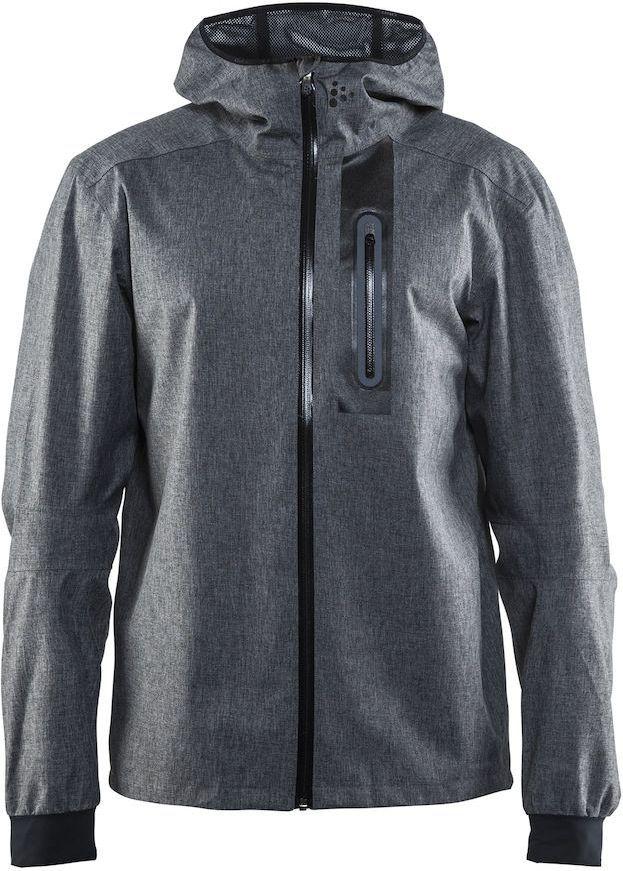 Куртка мужская для велоспорта Craft Ride Rain, цвет: серый. 1905008. Размер MMW-1462-01-SR серебристыйЛегкая ветро- и водонепроницаемая куртка с проклеенными швами и отличной вентиляцией. Свободная посадка. Модель с длинными рукавами и капюшоном застегивается на молнию. На груди имеется вертикальный карман на молнии.