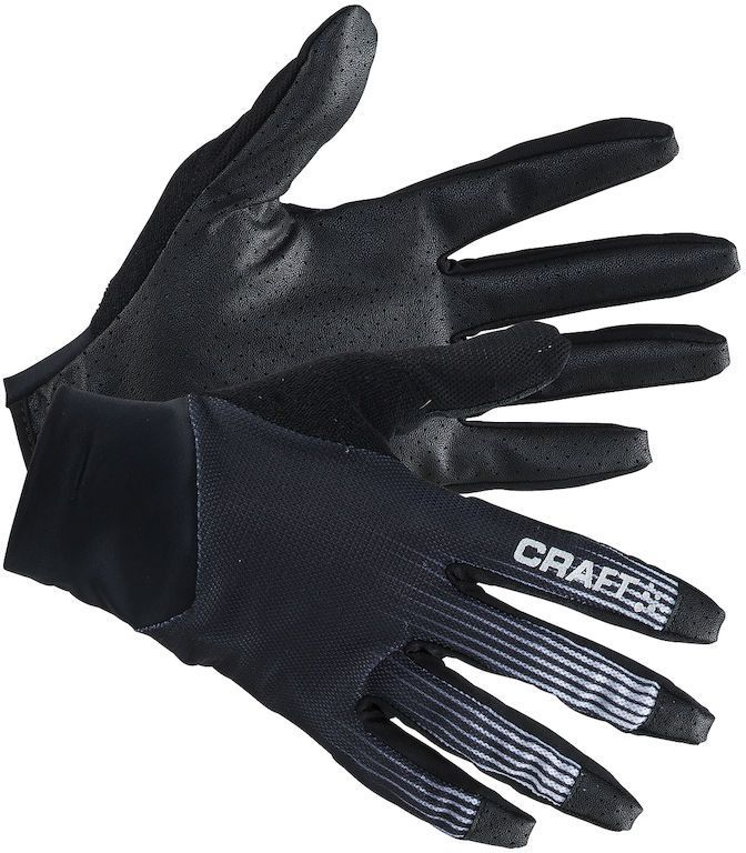 Велоперчатки Craft Route, цвет: черный, белый. 1904884. Размер M (9)ГризлиПерчатки Craft Route с полным покрытием пальцев, с прекрасной посадкой и силиконовым принтом для более оптимального захвата рукоятки.
