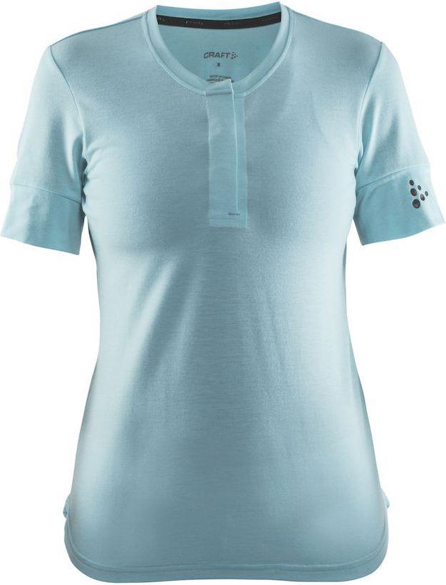 Футболка женская для велоспорта Craft Ride, цвет: голубой. 1904984. Размер S (44)WRA523700Очень мягкая и удобная футболка свободной посадки и превосходным переносом влаги