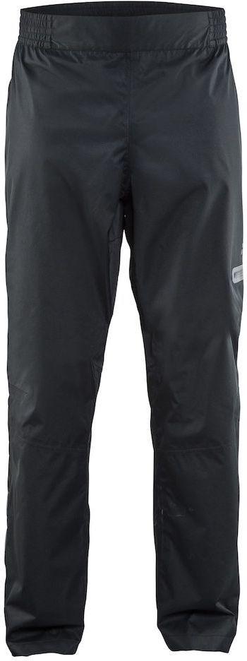 Штаны мужские для велоспорта Craft Ride Rain, цвет: черный. 1905014. Размер SMHDR2G/AЛегкие ветро- и водонепроницаемые брюки с проклеенными швами и отличной вентиляцией. Модель на талии имеет эластичную резинку, на брючине дополнена прорезным карманом на молнии.