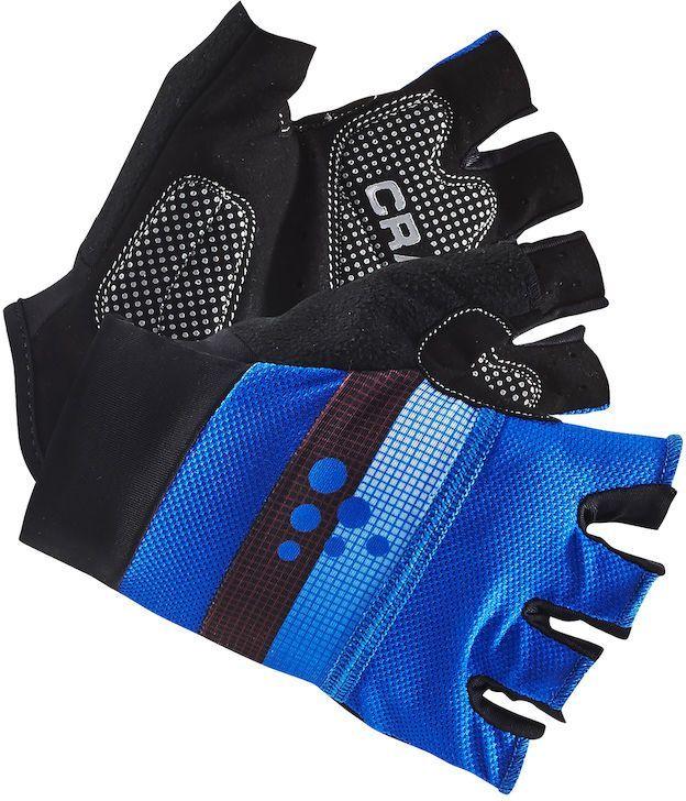 Велоперчатки Craft Classic, цвет: черный, синий. 1903304. Размер L (10)RivaCase 8460 blackЛегкие перчатки с гелевыми вставками на точках давления и удобной посадкой