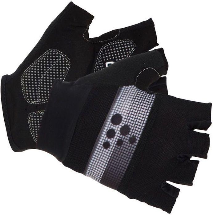 Велоперчатки Craft Classic, цвет: черный, серый. 1903304. Размер L (10)