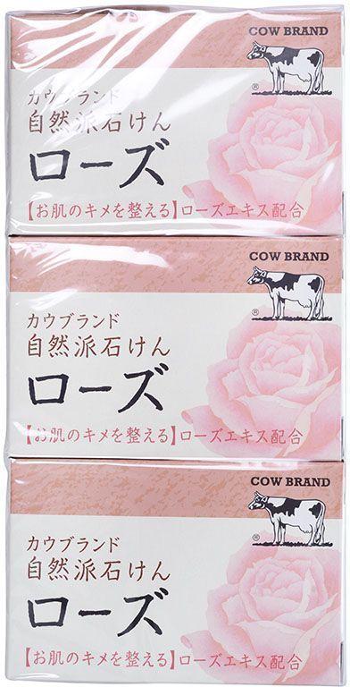 Cow туалетное мыло с экстрактом розы, 3 х 100 г149-5Туалетное мыло с экстрактом розы в составе увлажняет и защищает кожу от сухости, придает ей блеск и сияние. С легким ароматом розы.
