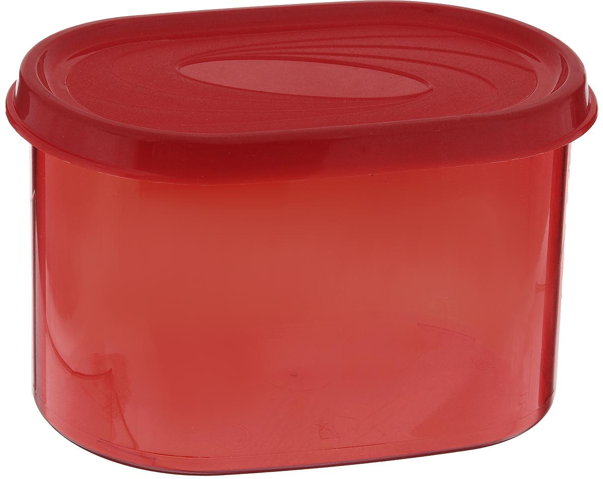 Банка для сыпучих продуктов Giaretti, цвет: красный, 800 мл345909Банка для сыпучих продуктов Giaretti, выполненная из прочного пластика, предназначена для хранения круп, сахара, чая, сухофруктов, а также продуктов с ярким ароматом (специи, кофе). Плотно прилегающая крышка не пропускает запахи содержимого в шкаф для хранения, при этом продукт не теряет своего аромата. Банки легко устанавливаются одна на другую. Прозрачные стенки позволяют видеть содержимое. Можно мыть в посудомоечной машине.