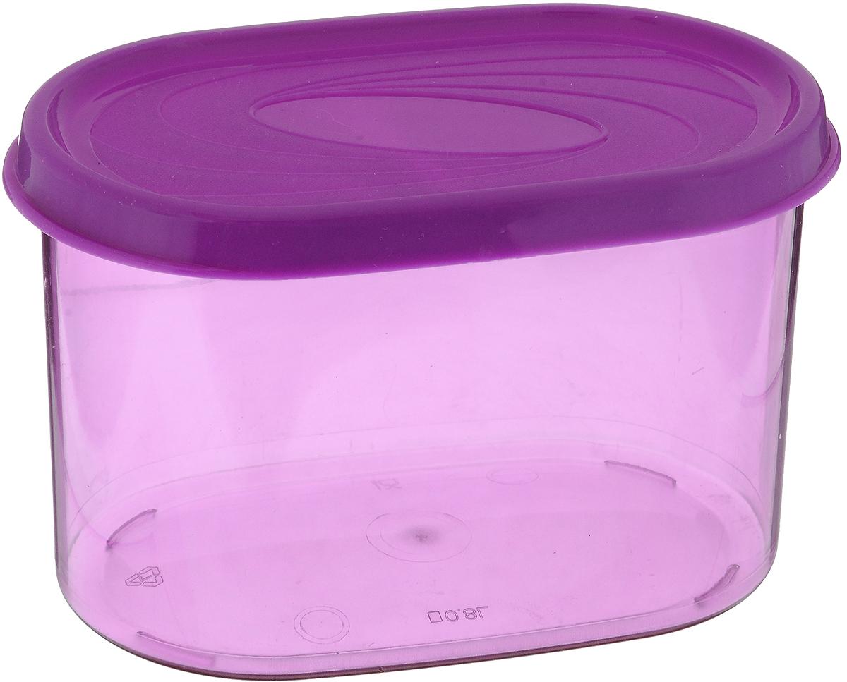 Банка для сыпучих продуктов Giaretti, цвет: фиолетовый, 800 млFA-5125 WhiteБанка для сыпучих продуктов Giaretti, выполненная из прочного пластика, предназначена для хранения круп, сахара, чая, сухофруктов, а также продуктов с ярким ароматом (специи, кофе). Плотно прилегающая крышка не пропускает запахи содержимого в шкаф для хранения, при этом продукт не теряет своего аромата. Банки легко устанавливаются одна на другую. Прозрачные стенки позволяют видеть содержимое. Можно мыть в посудомоечной машине.
