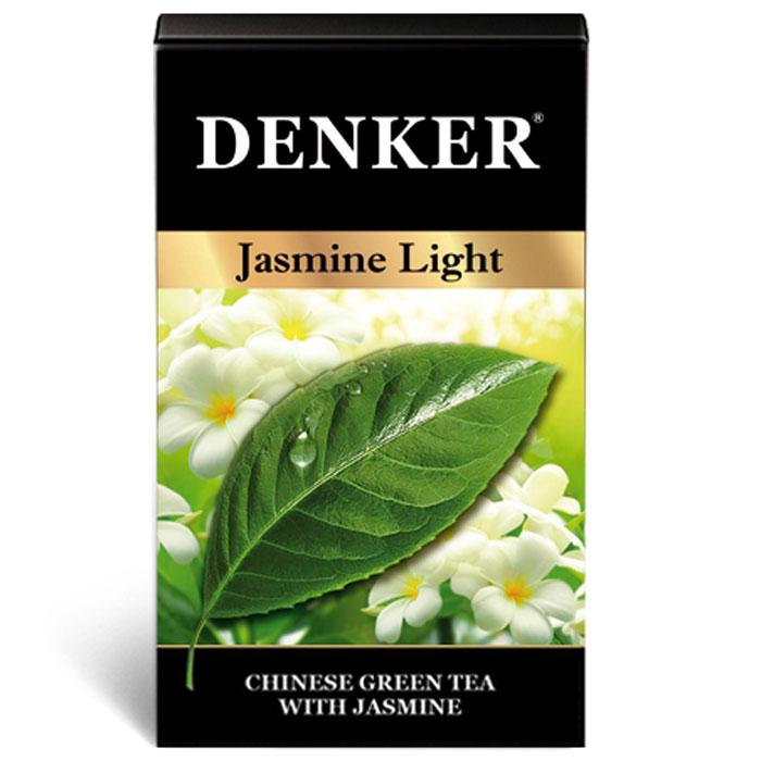 Denker Jasmine Light зеленый ароматизированный чай в пакетиках, 200 шт101246Зеленый чай с лепестками жасмина считается одним из древнейших и наиболее популярных ароматизированных чаев в мире.Чай Denker Jasmine Light - яркий пример использования человеком естественных сил природы. Обладая мощным освежающим действием, этот ароматный и нежный на вкус благородный напиток прекрасно утоляет жажду как в горячем, так и в охлажденном виде.