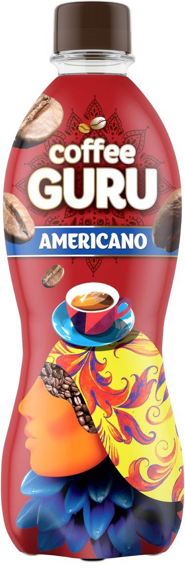 Coffee Guru Americano негазированный кофейный напиток со вкусом кофе американо, 0,5 л