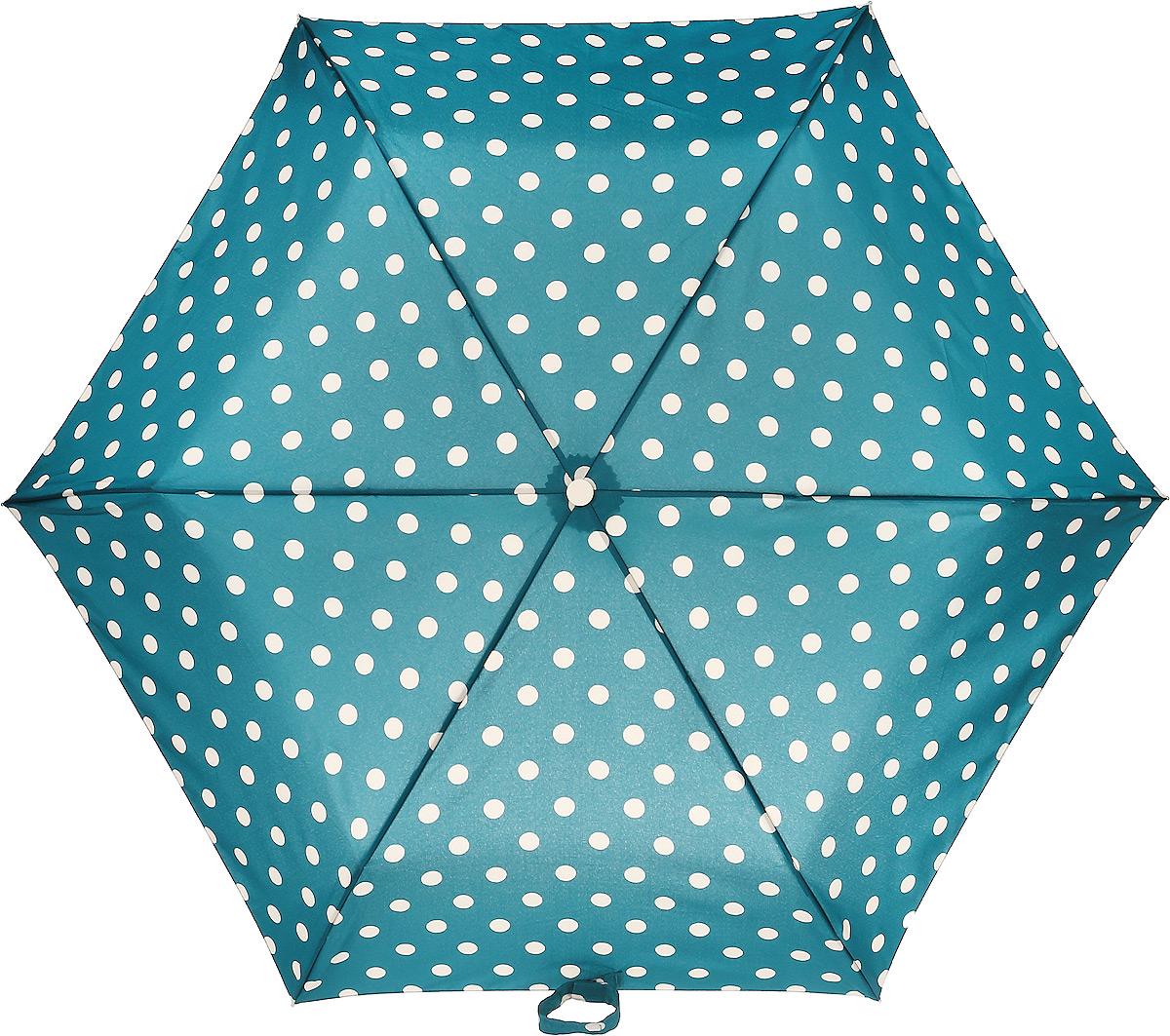 Зонт женский Fulton, механический, 3 сложения, цвет: зеленый, бежевый. L768-3234CX1516-50-10Стильный механический зонт Fulton имеет 3 сложения, даже в ненастную погоду позволит вам оставаться стильной. Легкий, но в тоже время прочный алюминиевый каркас состоит изшестиспиц с элементами из фибергласса. Купол зонта выполнен из прочного полиэстера с водоотталкивающей пропиткой. Рукоятка закругленной формы, разработанная с учетом требований эргономики, выполнена из каучука. Зонт имеет механический способ сложения: и купол, и стержень открываются и закрываются вручную до характерного щелчка.
