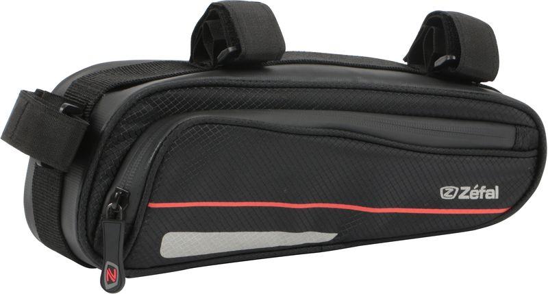 Велосумка под раму Zefal Z Frame Pack, 27 х 10 х 8 смZ90 blackZEFAL Z Frame Pack - это достаточно большая (1,3 литра) эргономичная и аэродинамичная сумка с креплением на раму для любого типа велосипеда. Для лучшей организации внутреннего пространства Z Frame Pack оснащена двумя удобными сетчатыми кармашками, крючком для ключей, и липучками велкро для насоса. Износостойкий и лёгкий материал сумки 420D Ripstop и молнии с влагозащитой не пропускают внутрь воду и пыль. Для Вашей большей безопасности, на сумку нанесены светоотражающие элементы.ZEFAL – старейший французский производитель велосипедных аксессуаров премиального качества, основанный в 1880 году, является номером один на французском рынке велосипедных аксессуаров.• Крепление на подседельную и верхнюю трубу рамы • Вес 125 г.• Размер 270х100х80 мм.• Объём 1,3 л.• Материал сумки и молнии 420D Ripstop• Молнии с влагозащитой• Сетчатые кармашки органайзер• Крючок для ключей• Крепление для насоса• Светоотражающие элементы