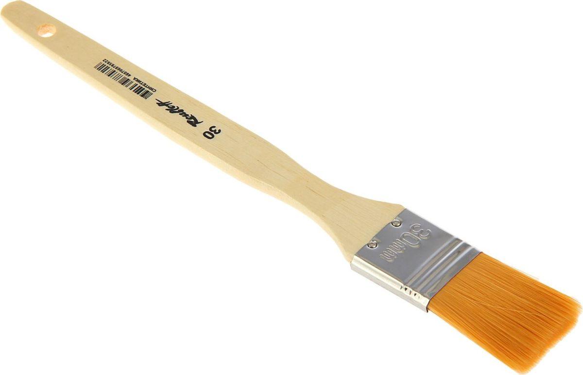 Roubloff Кисть Флейц специальная синтетическая № 301767101Кисть Roubloff Флейц изготовлена из специально подобранной синтетики средней жесткости.Плоская широкая кисть имеет деревянную ручку и медную хромированную обойму.Такую кисть можно использовать для художественных работ различными красками. Кисть удобна для окрашивания работ большого формата.