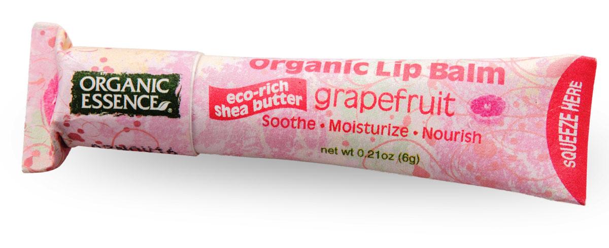 Organic Essence Органический бальзам для губ, гейпфрут 6 г5010777139655USDA Organic сертифицированный продукт. Насыщен органическим маслом Ши (масло плодов дерева Каритэ). Не содержат воду или любые наполнители. Питает сухие, потрескавшиеся губы, делает их мягкими. Отличная база перед нанесением губной помады.