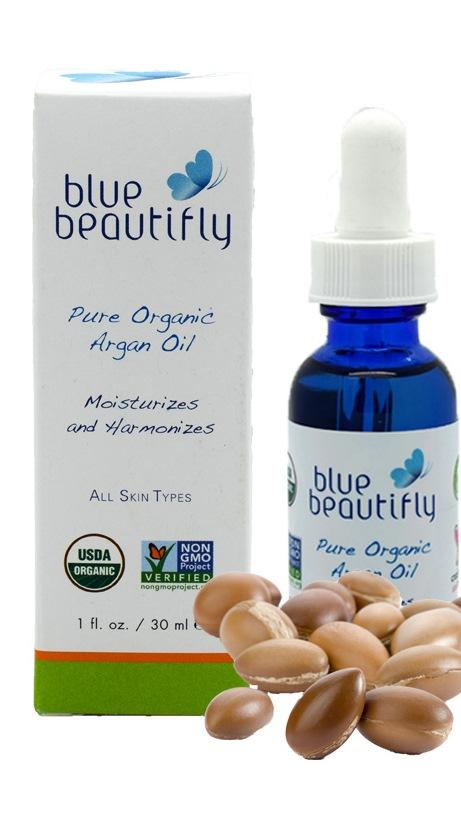 Blue Beautifly 100% органическое аргановое масло, 30 млFS-54114Органическое Аргановое масло богато незаменимыми жирными кислотами, витамином Е, содержит каротины и протеины. Аргановое масло является мощным антиоксидантом, оказывает противовоспалительное и антибактериальное действие в борьбе против свободных радикалов. Уменьшает морщины, шрамы и растяжки, увлажняет и успокаивает, стабилизирует уровень выработки кожного сала и устраняет бактерии, которые вызывают акне. Масло питает и укрепляет волосы и ногти, имеет легкую и нежную текстуру, отлично впитывается,нерафинированное. Органический сертифицированный продукт, полученный путем холодного отжима. Подходит для ежедневного использования на всех типов кожи.USDA сертифицированный органический продукт.