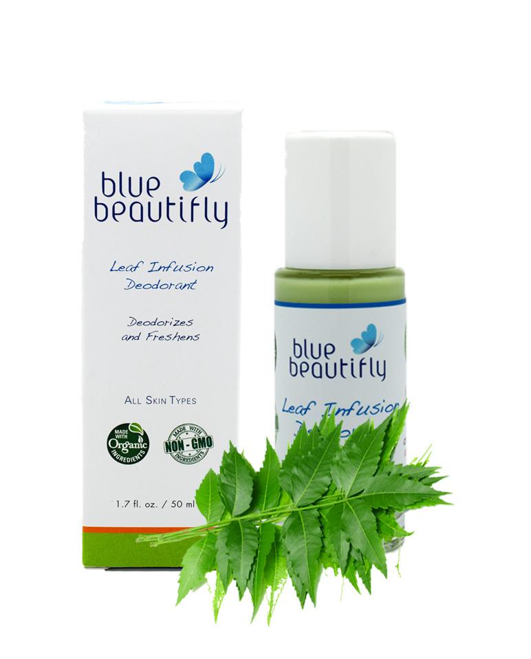Blue Beautifly Органический дезодорант, 50 мл28032022Дезодорант содержит только растительные органические ингредиенты, впитывает запахи и эффективно увлажняет кожу, не закупоривая поры. Предотвращает потоотделение и дезодорирует, не причиняя вреда естественным функциям кожи, обеспечивает свежесть в течении всего дня. Его эксклюзивный настой листьев дерева Ним, Шалфея, Тимьяна, Гамамелиса, Розмарина, Оливы и Алоэ Вера борется с вызывающими запах бактериями, увлажняет и успокаивает кожу подмышек. Входящие в состав Маранта и Рицинолеат Цинка тормозят размножение бактерий, не оказывая раздражающего действия на кожу. Освежающая ароматерапевтическая смесь эфирных масел Апельсина, Литсея Кубебы, Лаванды и Шалфея мускатного бодрит и питает кожу, обладая успокаивающими, антисептическими и антибактериальными свойствами. Органический дезодорант самый эффективный растительный антиперспирант!