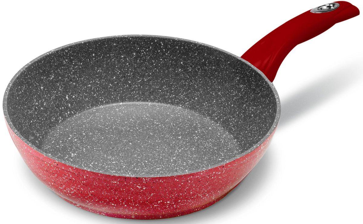 Сковорода MOULINvilla Raspberry, глубокая, для индукционных плит, диаметр: 26 смRSB-26-DIНовая серия посуды RASPBERRY сочетает высокопрочное покрытие и новейший дизайн, изящные формы в совершенном исполнении от компании MoulinVilla. При производстве сковород серии Raspberry используется современное антипригарное покрытие на водной основе. Используемое покрытие не содержит вредных для здоровья человека веществ, таких как свинец, кадмий и PFOA (перфтороктановая кислота в 2006 году признана канцерогеном). При соблюдении рабочих температур эксплуатации данное покрытие не вступает в реакцию с пищей, что делает его абсолютно безопасным для приготовления любых блюд. Данные сковороды подходят для всех типов плит, подходят для посудомоечной машины, готовить и ухаживать за сковородой стало еще удобнее.