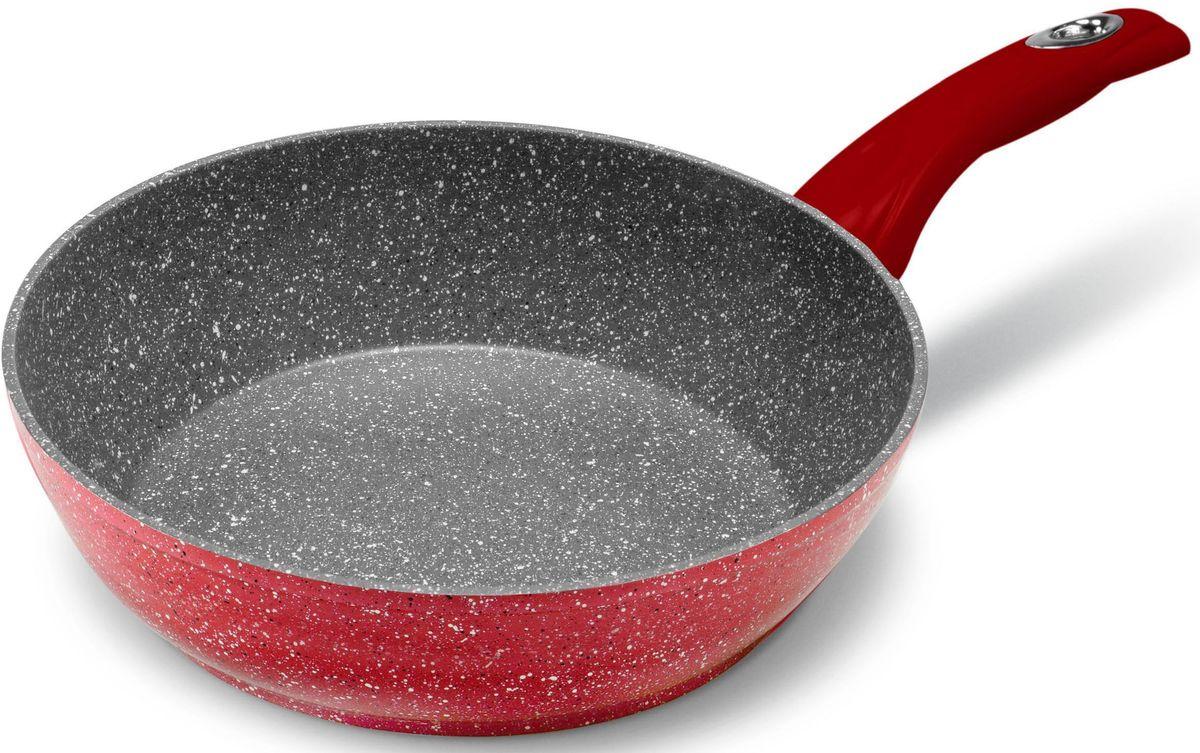 Сковорода MOULINvilla Raspberry, глубокая, для индукционных плит, диаметр: 28 см94672Новая серия посуды RASPBERRY сочетает высокопрочное покрытие и новейший дизайн, изящные формы в совершенном исполнении от компании MoulinVilla. При производстве сковород серии Raspberry используется современное антипригарное покрытие на водной основе. Используемое покрытие не содержит вредных для здоровья человека веществ, таких как свинец, кадмий и PFOA (перфтороктановая кислота в 2006 году признана канцерогеном). При соблюдении рабочих температур эксплуатации данное покрытие не вступает в реакцию с пищей, что делает его абсолютно безопасным для приготовления любых блюд. Данные сковороды подходят для всех типов плит, подходят для посудомоечной машины, готовить и ухаживать за сковородой стало еще удобнее.