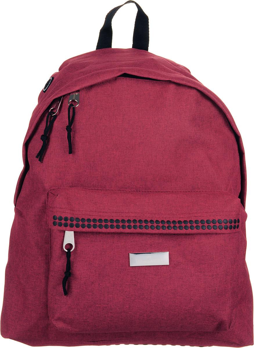 Faber-Castell Рюкзак школьный Grip цвет красный72523WDСтильный и качественный рюкзак Faber-Castell Grip выполнен из прочного полиэстера и прекрасно подойдет для использования подростками.Это легкий и компактный городской рюкзак, который обязательно подчеркнет вашу индивидуальность.Рюкзак содержит одно большое вместительное отделение, закрывающееся на застежку-молнию с двумя бегунками. Внутри отделения расположен мягкий открытый карман, который фиксируется липучкой. На лицевой стороне рюкзака расположен накладной карман на молнии. На задней части рюкзака имеется открытый карман на липучке.Рюкзак оснащен широкими лямками и текстильной ручкой для переноски в руке. Имеется вывод для наушников.Такую модель рюкзака можно использовать для повседневных прогулок, отдыха и спорта.