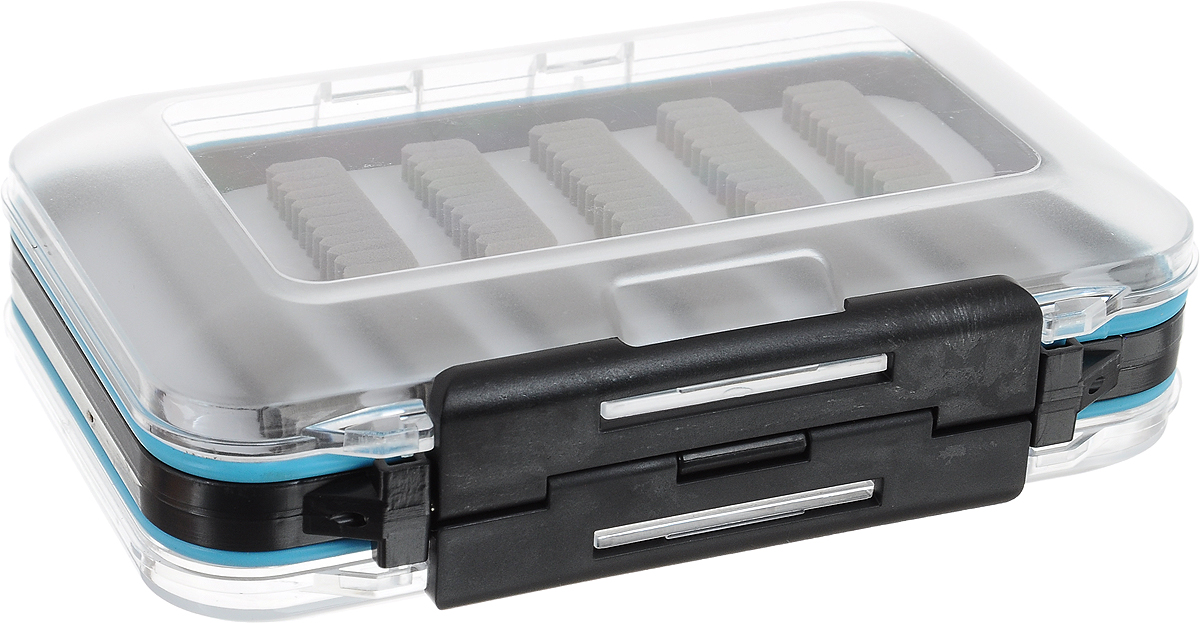 Коробка рыболовная Salmo Fly Special, 15 х 10 х 5,2 см4271825Коробка рыболовная Salmo Fly Special предназначена для хранения мушек, стримеров и других рыболовных принадлежностей. Коробка позволит максимально защитить ее содержимое от попадания загрязнений и влаги. Коробка выполнена из пластика, является двусторонней и содержит два отделения, каждое из которых плотно закрывается прозрачной крышкой. В каждом отделении имеются мягкие полимерные вставки. Благодаря своему небольшому размеру коробка не занимает много места при хранении и транспортировке.