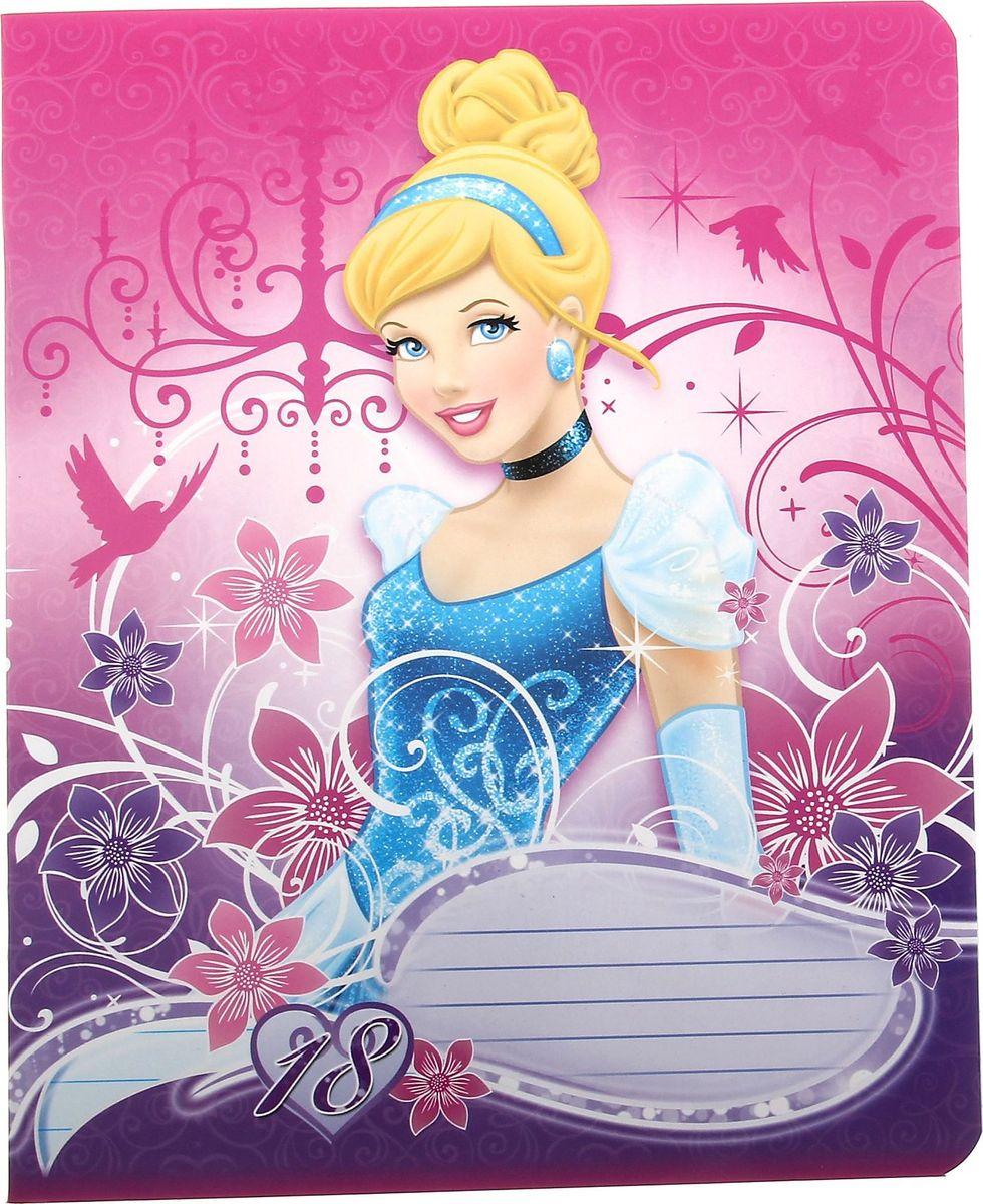Disney Тетрадь Принцессы 18 листов в линейку72523WDНевозможно найти малыша, который бы не обожал мультфильмы Disney. А теперь, любимые герои перебрались из телеэкрана прямо на обложку его новенькой тетради! Ваш ребенок останется очень доволен. Кроме того, под обложкой находится качественная бумага толщиной 60г/м2 с офсетной печатью и белизной до 90%. Выбор тетради очевиден, осталось только остановится на самом любимом персонаже.