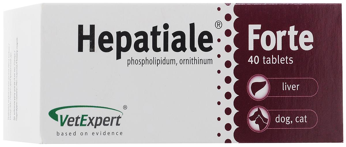 Препарат для кошек и собак VetExpert Hepatiale Forte, для поддержания функции печени, 40 таблеток капстар таблетки для кошек москва купить