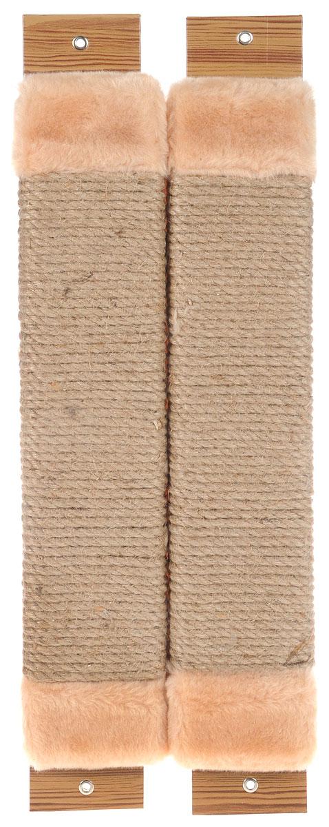 Когтеточка Неженка, угловая, с кошачьей мятой, цвет: бежевый, 54 х 20 х 2,5 смД341Ла_серый, белый лапкиКогтеточка Неженка поможет сохранить мебель и ковры в доме от когтей вашего любимца, стремящегося удовлетворить свою естественную потребность точить когти.Основание изделия изготовлено из ДСП и обтянуто прочной тканью, а столб для точения когтей обтянут джутом. Товар продуман в мельчайших деталях и, несомненно, понравится вашей кошке.Всем кошкам необходимо стачивать когти. Когтеточка - один из самых необходимых аксессуаров для кошки. Для приучения к когтеточке можно натереть ее сухой валерьянкой или кошачьей мятой. Когтеточка поможет вашему любимцу стачивать когти и при этом не портить вашу мебель.