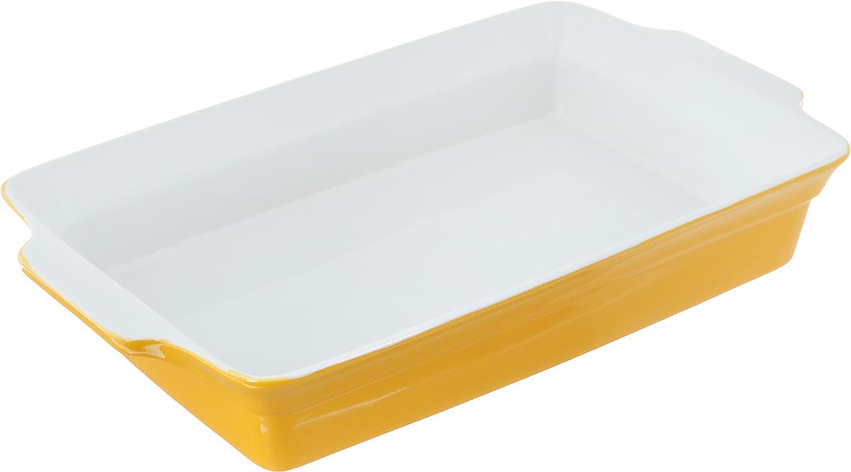 Форма для запекания Bohmann, прямоугольная, 37,5 х 22 х 6,5 см54 009312Прямоугольная форма для запекания Bohmann выполнена из керамики с глазурованным покрытием. Изделие оснащено удобными ручками. Пригодна для использования в микроволновых печах, морозильных камерах, духовках и для мытья в посудомоечной машине. Форма выдерживает температуру до 220°С.