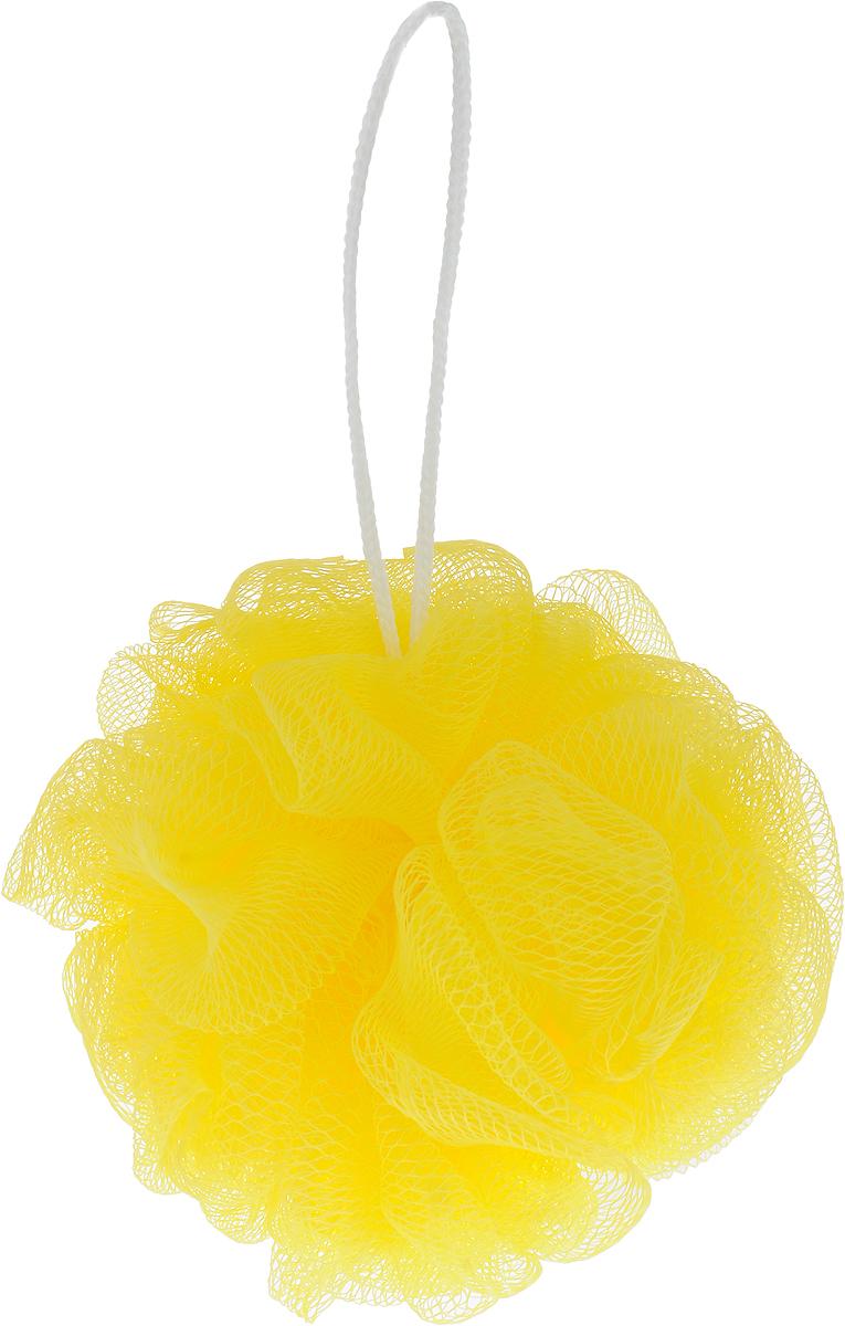 Мочалка массажная Eva Бантик, средней жесткости, цвет: желтый, диаметр 12 см5010777139655Мочалка Eva Бантик, выполненная из нейлона, станет незаменимым аксессуаром в ванной комнате. Благодаря своему составу она отлично пенится. Мочалкаоказывает эффект массажа, тонизирует и очищает кожу. На мочалке имеетсяудобная петелька для подвешивания.Подходит для всех типов кожи и не вызывает аллергию.Диаметр: 12 см.