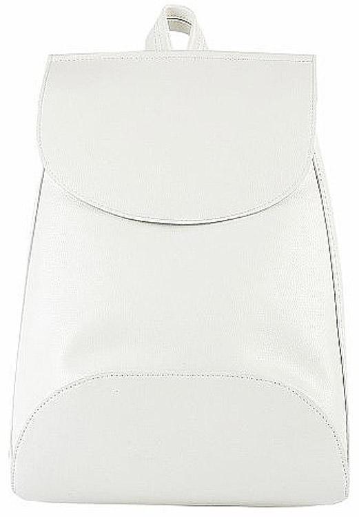 Рюкзак женский Kawaii Factory Minimal, цвет: белый. KW102-00029723008Рюкзак Minimal с 1 внутренним карманом - это простая и удобная вещь, которую трудно чем-либо заменить. Повседневный рюкзак - это тот предмет гардероба, без которого тяжеловато обойтись. Простой базовый рюкзак непростой формы из качественной и нежной на ощупь экокожи будет служить вам верой и правдой не только в повседневных делах, но и во всех самых увлекательных приключениях. Закрывается на застежку на магнитной кнопке. Размер: 37 x 27 x 8 см.