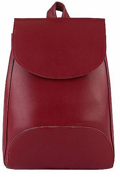 Рюкзак женский Kawaii Factory Minimal, цвет: бордовый. KW102-00029223008Рюкзак Minimal с 1 внутренним карманом - это простая и удобная вещь, которую трудно чем-либо заменить. Повседневный рюкзак - это тот предмет гардероба, без которого тяжеловато обойтись. Простой базовый рюкзак непростой формы из качественной и нежной на ощупь экокожи будет служить вам верой и правдой не только в повседневных делах, но и во всех самых увлекательных приключениях. Закрывается на застежку на магнитной кнопке. Размер: 37 x 27 x 8 см.