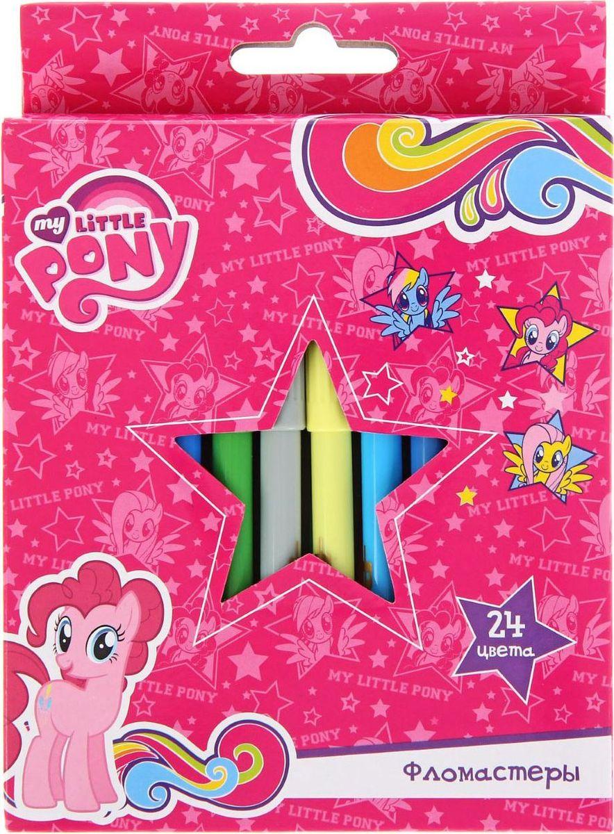 My Little Pony Набор фломастеров 24 цвета730396Набор фломастеров My Little Pony состоит из 24 разноцветных фломастеров, которые отлично подойдут и для школьных занятий, и просто для рисования.Фломастеры рисуют яркими насыщенными цветами. Чернила на водной основе легко смываются с кожи и отстирываются с большинства тканей. Колпачок имеет специальные прорези, что еще больше увеличивает срок службы чернил и предотвращает их преждевременное высыхание.