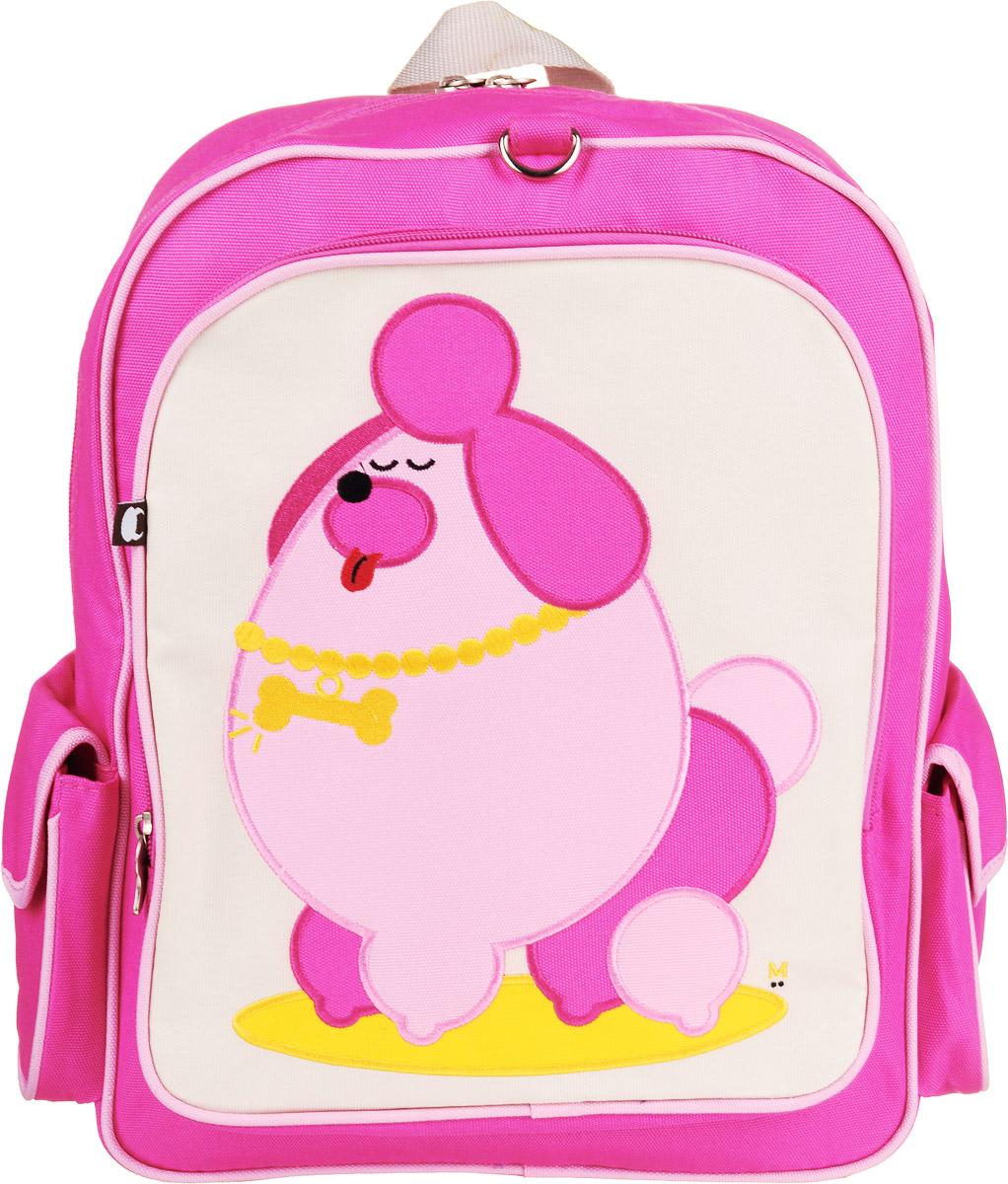 Рюкзак детский Beatrix Big Kid Pocchari-Poodle, цвет: молочный, розовый, желтый72523WDРюкзак Beatrix Pocchari-Poodle изготовлен из износоустойчивого нейлона ярких расцветок. Рюкзак оформлен вышитой аппликацией с изображением забавного животного. Рюкзак состоит из вместительного отделения, закрывающегося на застежку-молнию с двумя бегунками. Бегунки застежки дополнены металлическими держателями. На лицевой стороне рюкзака один большой накладной карман на молнии. Внутри отделения находится дополнительный кармашек на застежке-молнии. На задней стенке рюкзака имеется нашивка, на которой можно указать данные владельца. По бокам рюкзака имеются два накладных кармашка, закрывающихся на клапан с липучкой. Мягкие широкие лямки позволяют легко и быстро отрегулировать рюкзак в соответствии с ростом. Спинка рюкзака и лямки прошиты для дополнительного комфорта при эксплуатации. Рюкзак оснащен удобной текстильной ручкой для переноски в руке. Достаточно вместительный для того, чтобы в них поместились учебники, ноутбук, школьный завтрак и остальной арсенал школьника. Идеально подходит как для школы, так для повседневных прогулок, отдыха и спорта.
