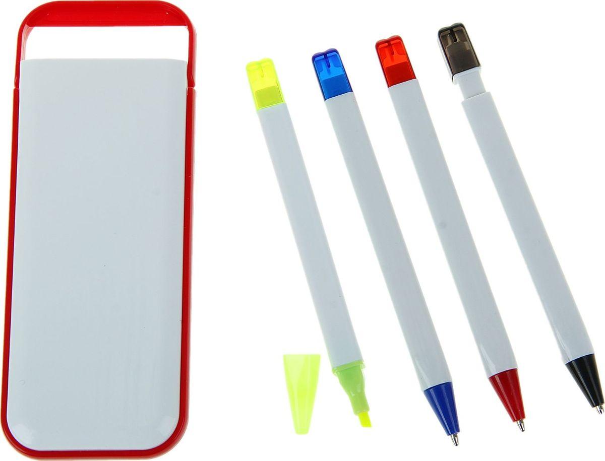 Набор шариковых ручек с маркером и карандашом 2 шт72523WDНаборы с логотипом — это прекрасная реклама и средство привлечения клиентов. Многие компании давно пользуются этим доступным и быстрым способом заявить о себе. Вы тоже ищете канцелярские наборы под логотип? Набор в пластик футляре белый с красным кантом: ручки шариковые 2шт, маркер, карандаш идеально подходит для осуществления этой цели. Оригинальный набор дополнит и подчеркнет статус вашей компании, а использовать его будет легко. Ассоциируйте бизнес только с лучшей канцелярией, и клиенты это обязательно оценят.