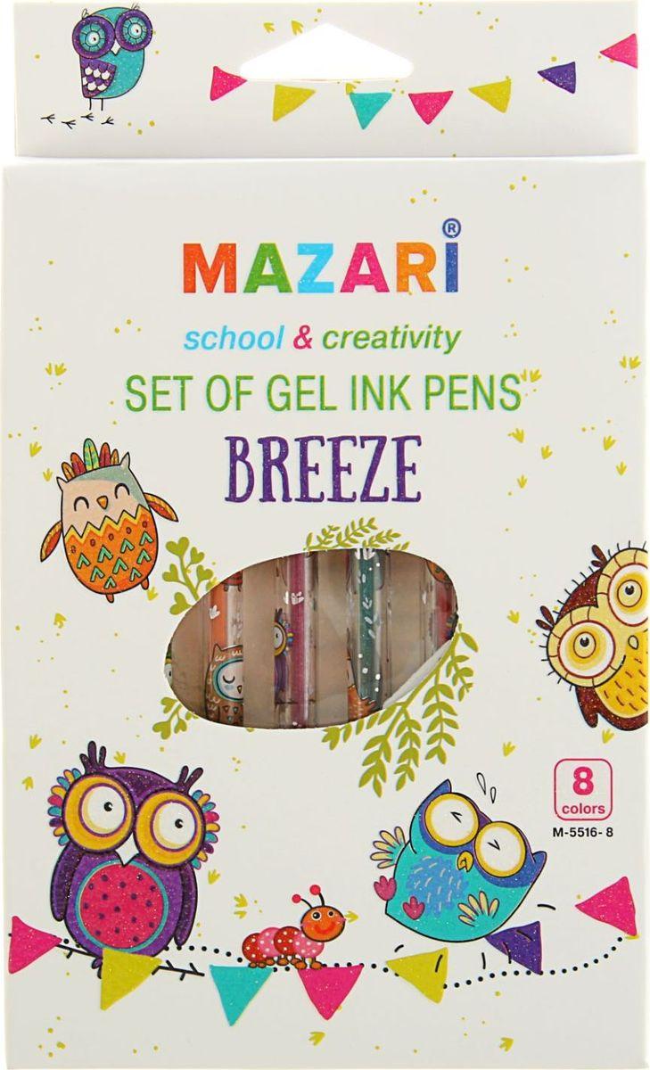 Набор гелевых ручек Mazari Breeze - отличный выбор для любителей мягкого и удобного письма. Гелевая консистенция чернил равномерно распределяется по бумаге и быстро сохнет. Прозрачный корпус позволяет контролировать расход чернил.Пулевидный пишущий узел 0.8 мм.